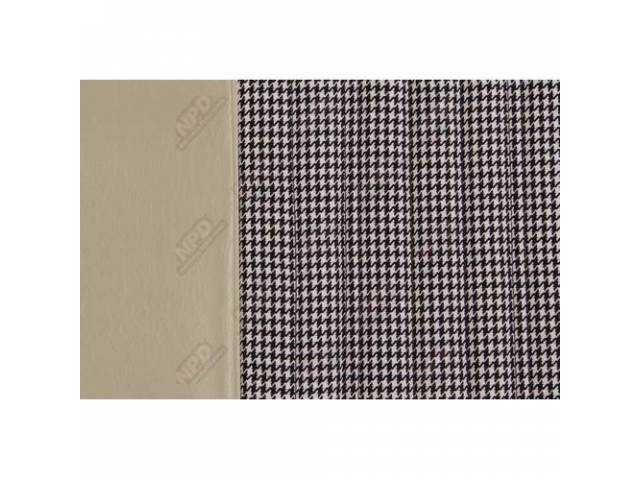 Upholstery Set Bench Dlx Houndstooth White Walrus Grain