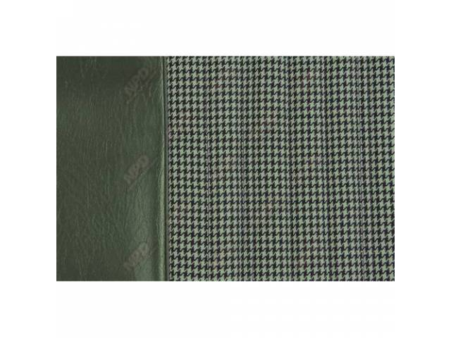Upholstery Set Bench Dlx Houndstooth Dark Green Walrus