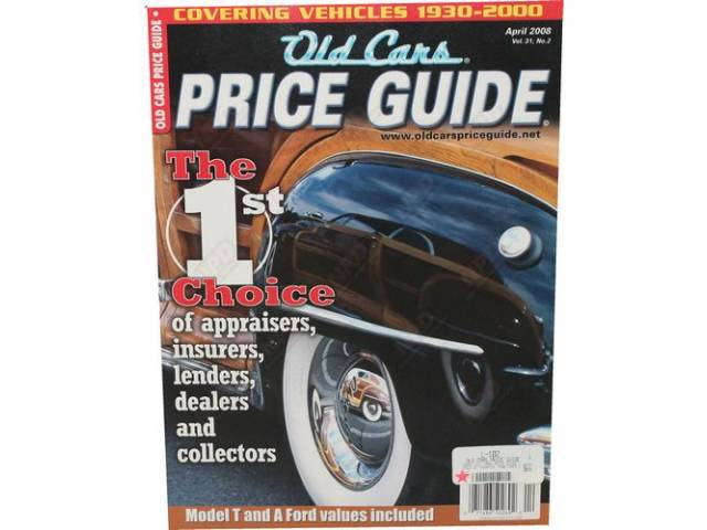 BOOK OLD CARS PRICE GUIDE