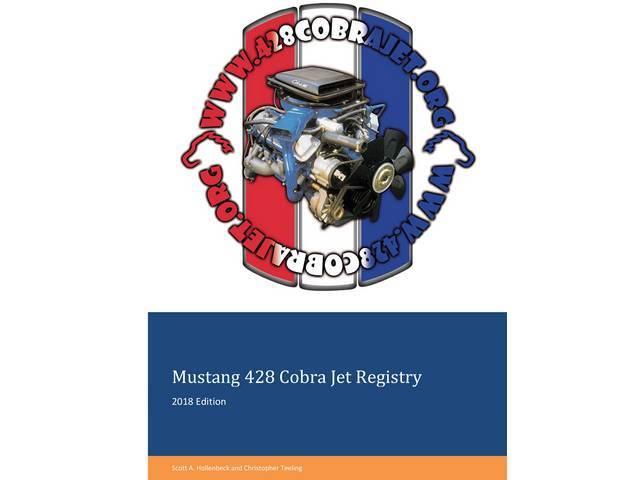 BOOK, Mustang 428 Cobra Jet Registry, 2018 edition,