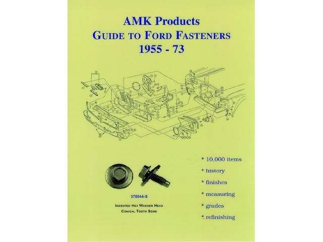BOOK, AMK GUIDE TO FORD FASTENRS, by AMK