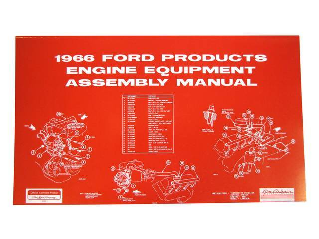 ENGINE ASSEMBLY MANUAL, 66 MUSTANG