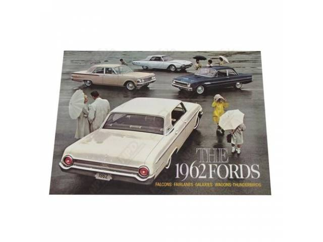 1962 FORD FULL CAR LINE SALES BROCHURE FDC-6211
