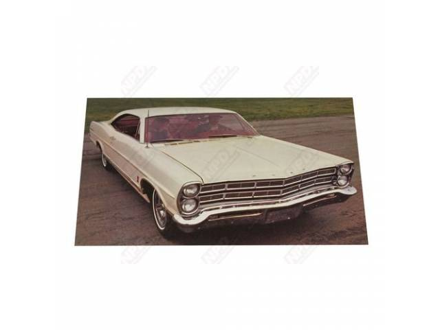 1967 FORD GALAXIE 500 HARDTOP DEALER POSTCARD