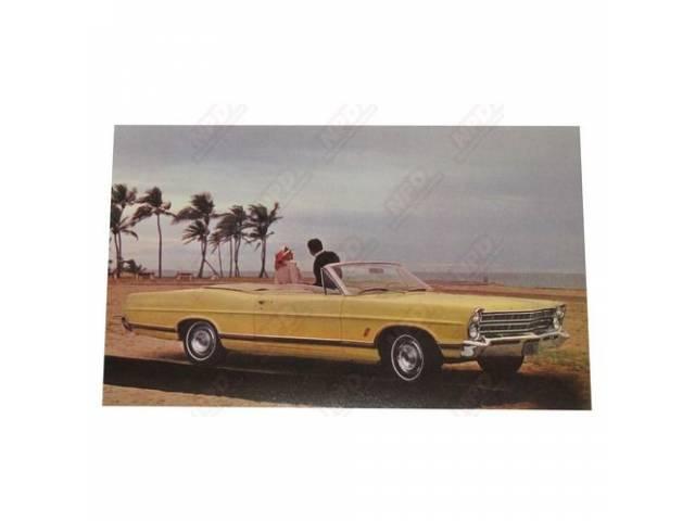 1967 FORD GALAXIE 500XL CONVERTIBLE DEALER POSTCARD
