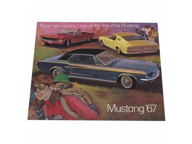 1967 MUSTANG SALES BROCHURE FDC-6704 REV 1-67