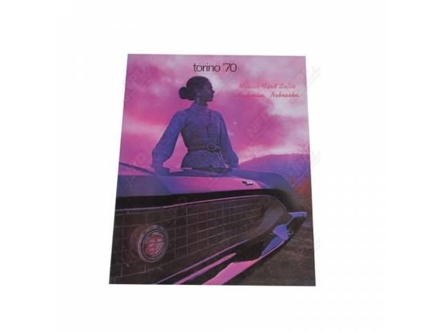 1970 TORINO SALES BROCHURE 5105 REV 8-69 INCLUDES