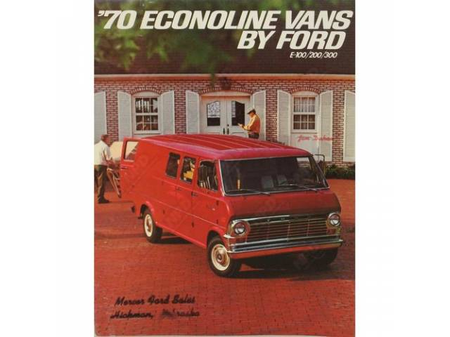 1970 ECONOLINE VANS BY FORD FDT-7020 REV 8-69