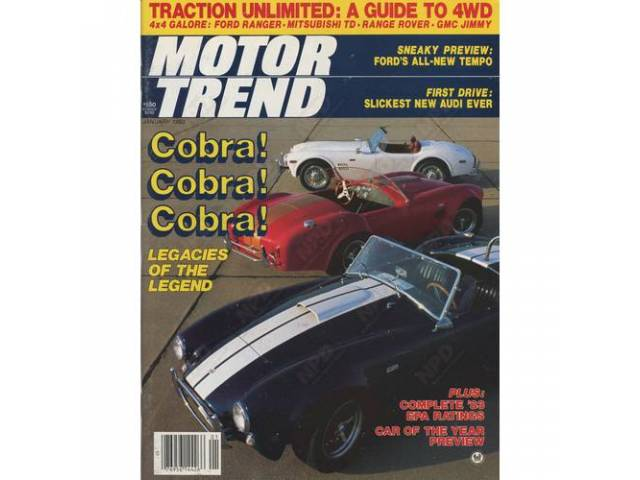 LITERATURE MOTOR TREND N O S JANUARY 1983