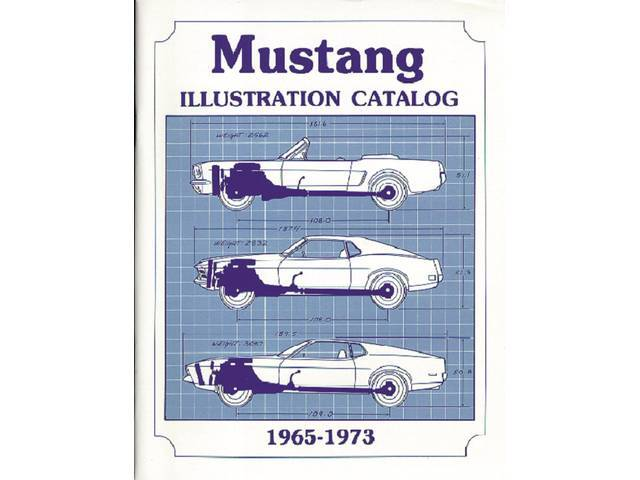 BOOK, MUSTANG PARTS ILLUSTRATED