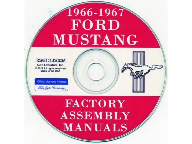 CD, FACTORY ASSEMBLY MANUALS, 1966-1967, 8 volume set,
