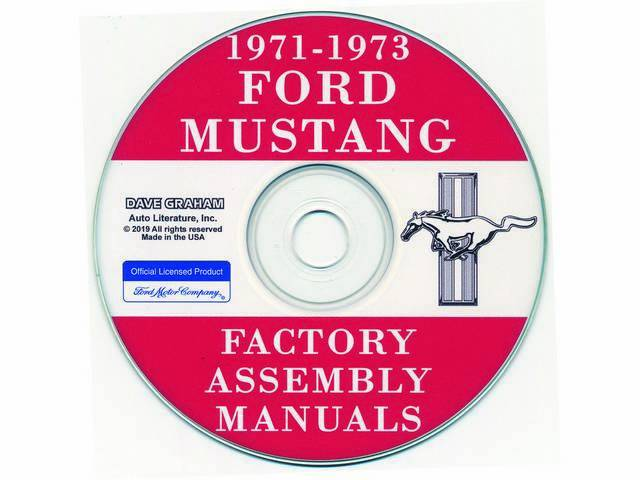 CD, FACTORY ASSEMBLY MANUALS, 1971-1973, 6 VOLUME SET