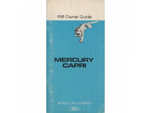 Original Ford Owners Manual 1981 Mercury Capri 180