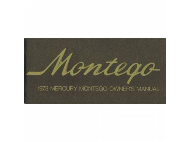 Original Ford Owners Manual 1973 Mercury Montego 82