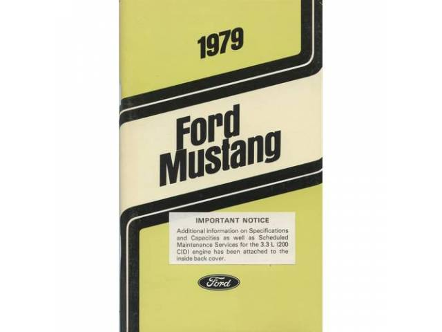 Owners Manual Original Ford 126 Pages Nos
