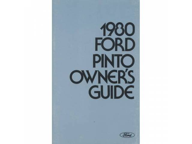 Original Ford Owners Manual 1980 Ford Pinto 106