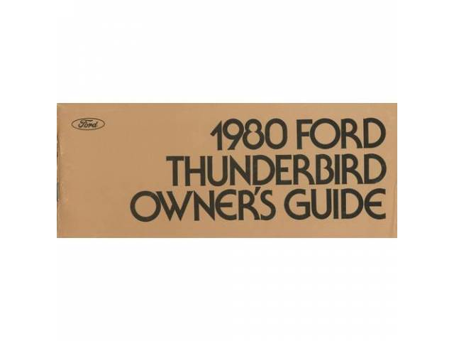 OWNERS MANUAL, Original Ford, 162 pages, nos
