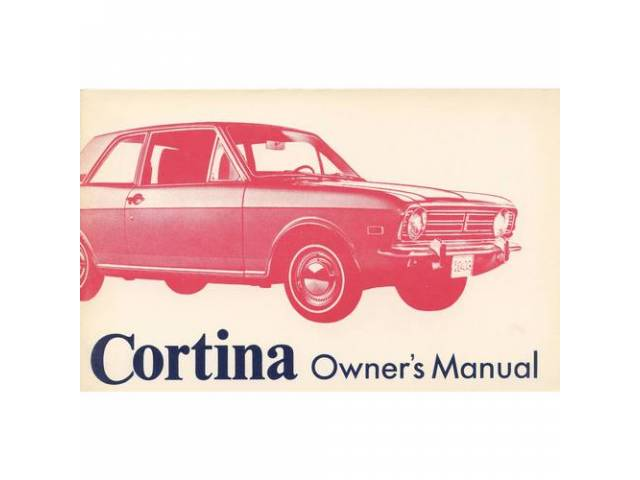 OWNERS MANUAL, Original Ford, 72 pages, nos