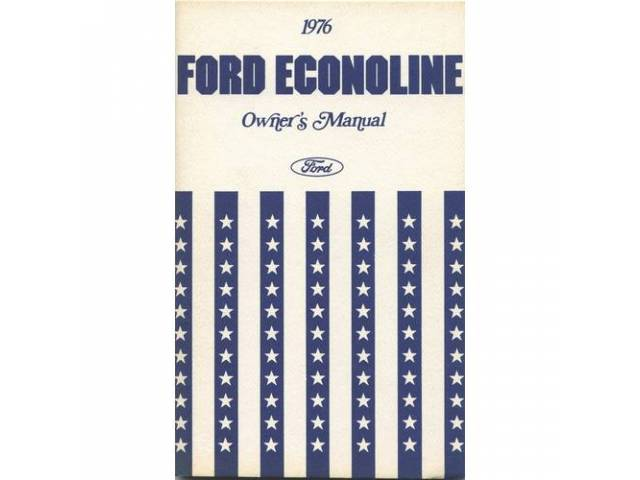 OWNERS MANUAL, Original Ford, 130 pages, nos