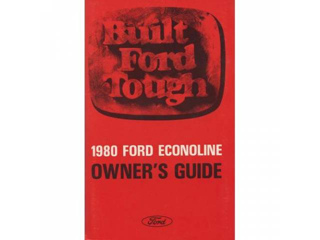 OWNERS MANUAL, Original Ford, 170 pages, nos