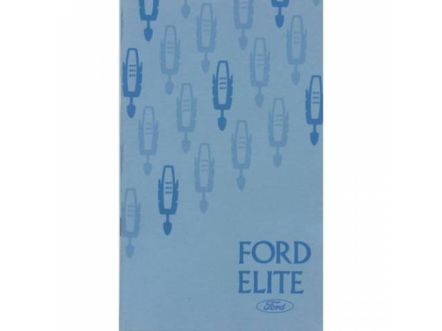 Original Ford Owners Manual 1975 Ford Elite 106