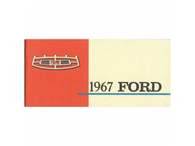 Owners Manual Original Ford 78 Pages Nos