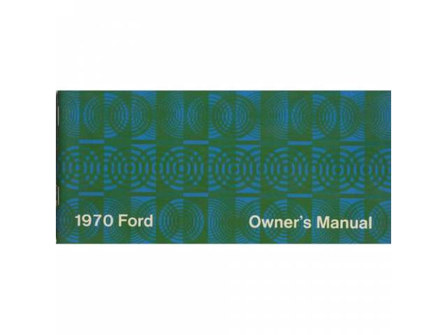OWNERS MANUAL, Original Ford, 68 pages, nos