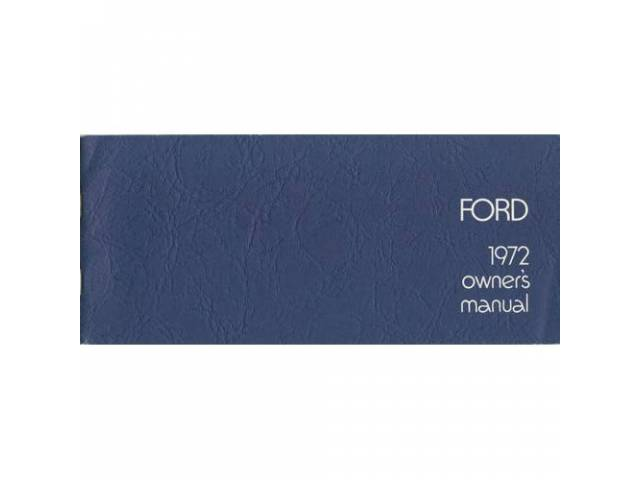 Owners Manual Original Ford 60 Pages Nos