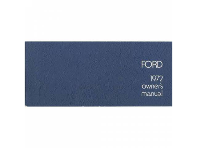 OWNERS MANUAL, Original Ford, 60 pages, nos