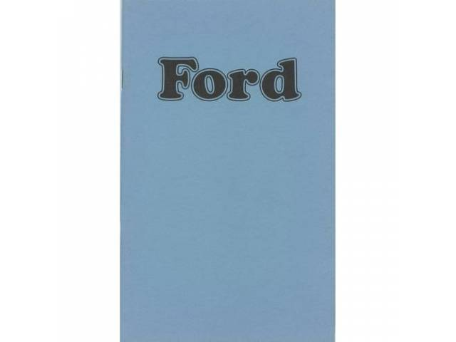 Owners Manual Original Ford 100 Pages Nos