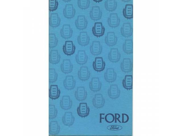Owners Manual Original Ford 108 Pages Nos