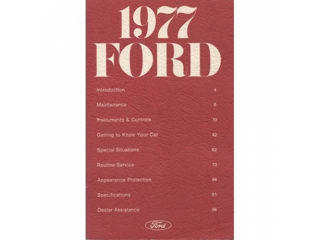 Owners Manual Original Ford 116 Pages Nos