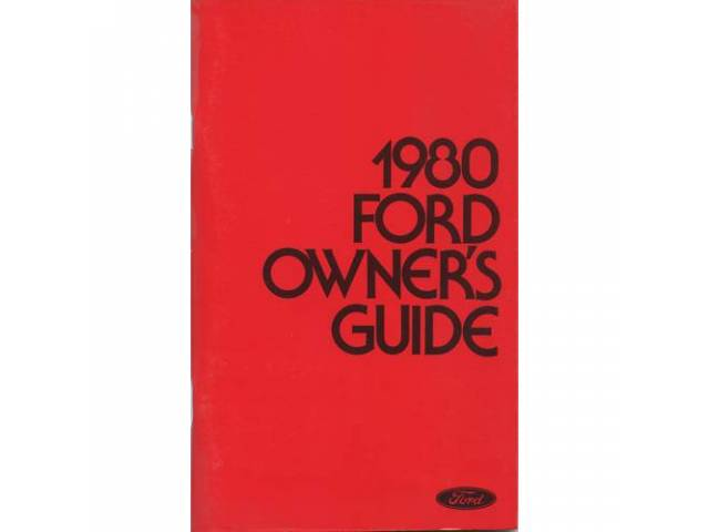 OWNERS MANUAL, Original Ford, 148 pages, nos