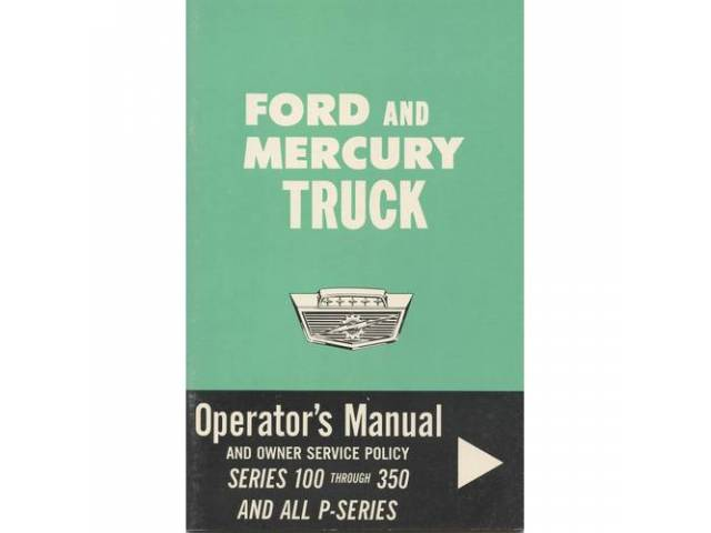 Owners Manual Original Ford 58 Pages Nos