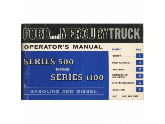 OWNERS MANUAL, Original Ford, 112 pages, nos