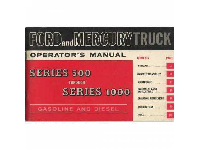 Owners Manual Original Ford 110 Pages Nos