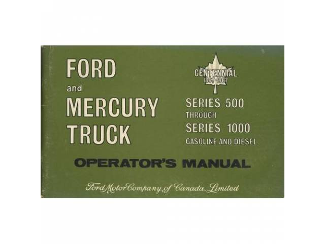 Owners Manual Original Ford 102 Pages Nos