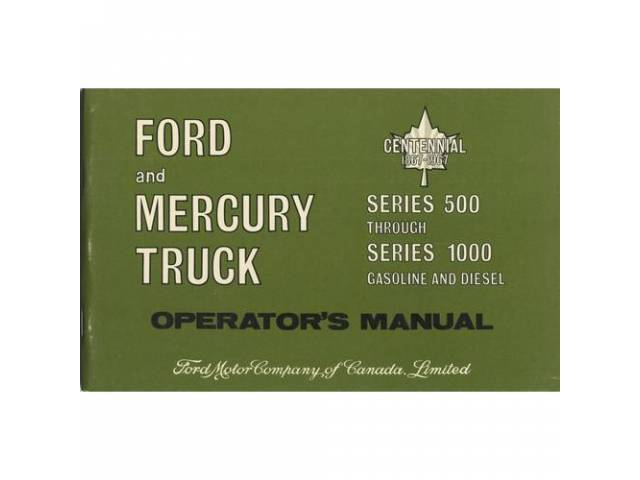 OWNERS MANUAL, Original Ford, 102 pages, nos