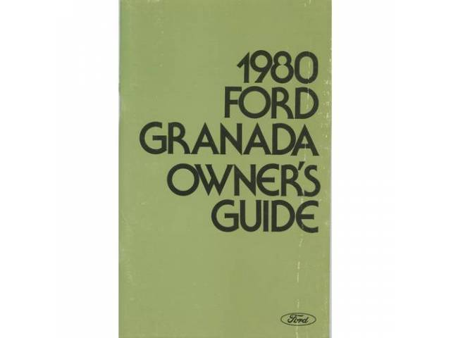 Owners Manual Original Ford 122 Pages Nos