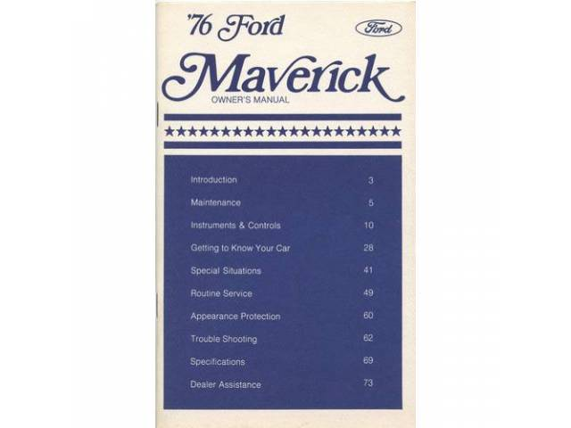 OWNERS MANUAL, Original Ford, 90 pages, nos