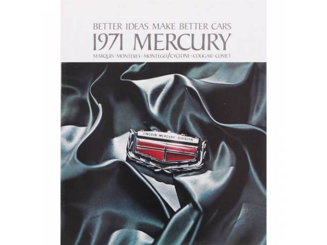 1971 MERCURY BETTER IDEAS SALES BROCHURE