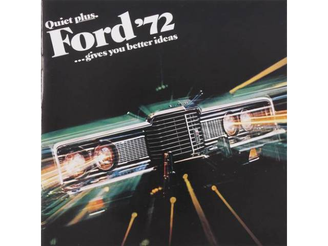 1972 FORD BETTER IDEAS SALES BROCHURE
