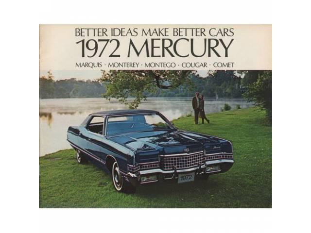 1972 MERCURY BETTER IDEAS SALES BROCHURE