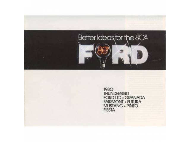 1980 FORD BETTER IDEAS SALES BROCHURE