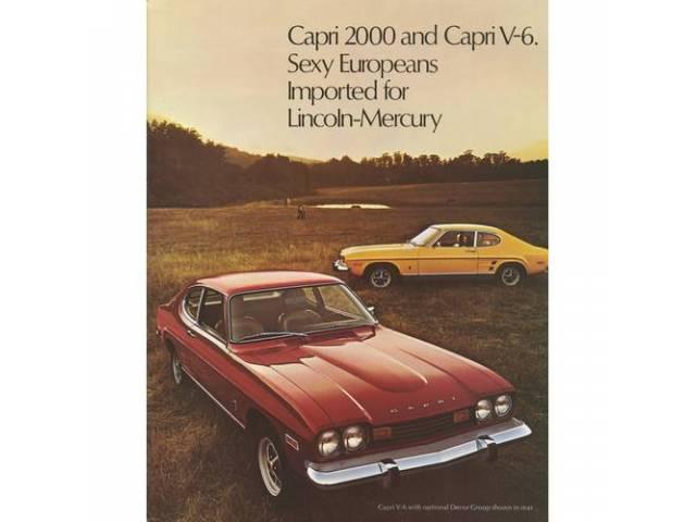1973 MERCURY CAPRI SALES BROCHURE