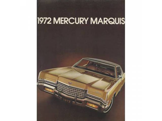 1972 MERCURY GRAND MARQUIS SALES BROCHURE