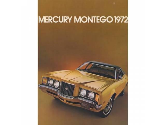 1972 MERCURY MONTEGO SALES BROCHURE