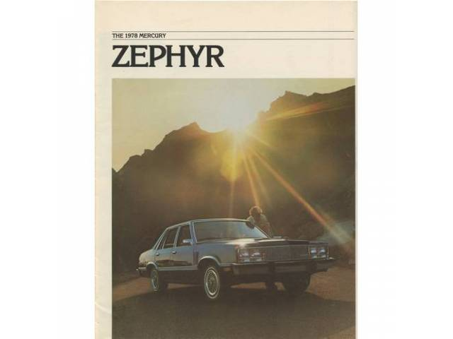 Original Ford Sales Brochure 1978 Mercury Zephyr 12