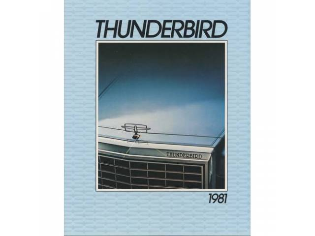 1981 FORD THUNDERBIRD SALES BROCHURE