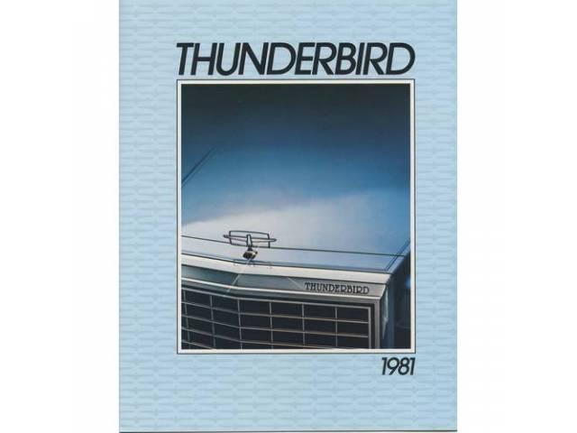 1981 FORD THUNDERBIRD SALES BROCHURE